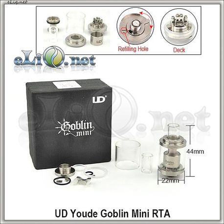 UD Goblin mini RTA Tank Atomizer - 3ml - обслуживаемый атомайзер-танк. Мини Гоблин.