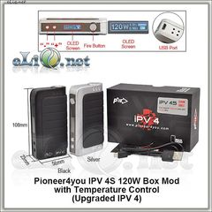 Pioneer4you 120W 100J iPV 4S TC Box Mod - боксмод вариватт с температурным контролем.