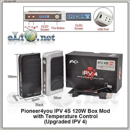 Pioneer4you 120W 100J iPV 4S TC Box Mod - боксмод вариватт с температурным контролем.