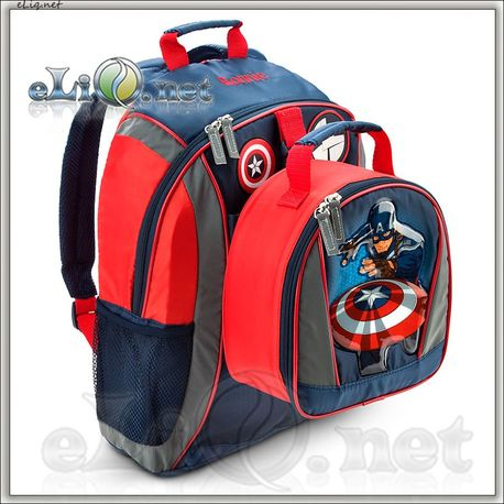 Рюкзак и ланч-бокс. Капитан Америка. Captain America Backpack - Personalizable.Дисней (Disney)