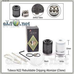 Tobeco N22 Black RDA - ОА для дрипа из нержавеющей стали. клон