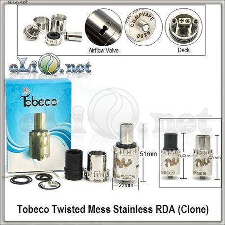 [Tobeco] Twisted Messes RDA - ОА для дрипа из нержавеющей стали. Клон