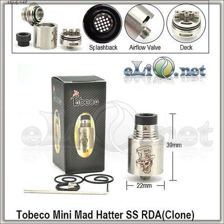 [Tobeco] Mini Mad Hatter RDA - Обслуживаемый атомайзер для дрипа.