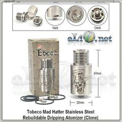 [Tobeco] Mad Hatter RDA - Обслуживаемый атомайзер для дрипа. Безумный Шляпник.