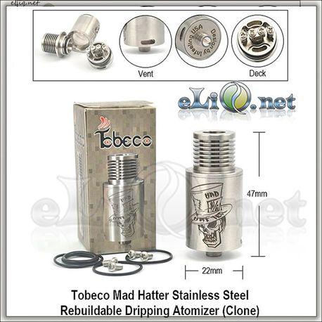[Tobeco] Mad Hatter RDA - Обслуживаемый атомайзер для дрипа. Шляпочник.