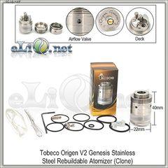 [Tobeco]  Origen V2 Genesis RBA - ОА  из нержавеющей стали. клон. Генезис.