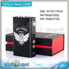 Tesla Metal 120W TC - боксмод-вариватт под 2 аккумулятора c термоконтролем.