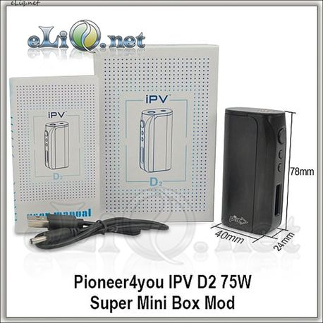 Pioneer4you IPV D2 75W Super Mini Box Mod - супер-мини-боксмод вариватт с температурным контролем.
