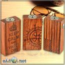 Compass / USA Wood Box Mod (Clone) - деревянный механический мод под 2 аккумулятора