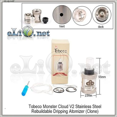 [Tobeco] Monster Cloud V2 RDA - ОА для дрипа. клон.