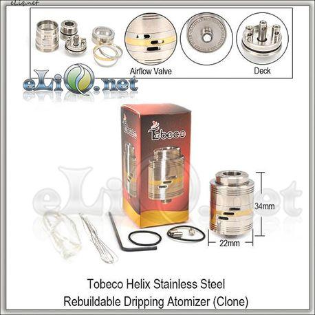 [Tobeco] Helix RDA - ОА для дрипа. клон.