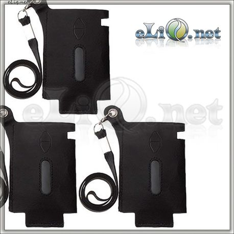 Кожаный чехол с ремешком для  50W Eleaf iStick (Leather Case w/ Lanyard) не оригинальный