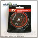 UD Twisted Wire 36ga*2 + Ribbon  Витой кантал, круглый + плоский. 10м.