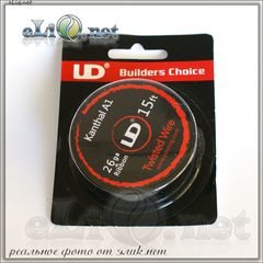 UD Twisted Wire 28ga*3 Плетенный (скрученный) кантал А1. 5м.