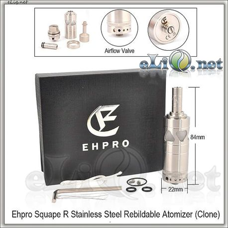 EHPRO Squape R RTA - обслуживаемый атомайзер-танк. Клон