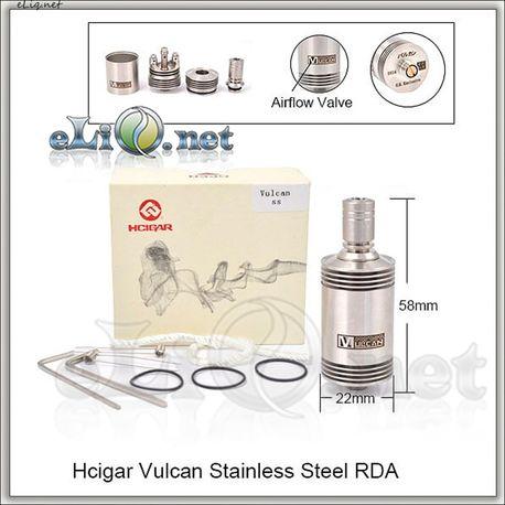 Hcigar Vulcan RDA - ОА для дрипа из нержавеющей стали. Вулкан. клон.
