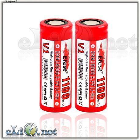 Efest IMR 18500 1100mah - flat top - аккумулятор без защиты.