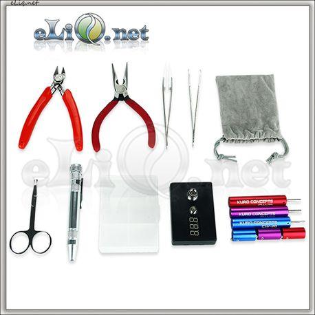 E-cig DIY Tool Accessories Kit - большой набор инструментов + омметр.