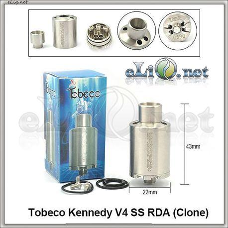 Tobeco Kennedy V4 RDA - ОА для дрипа из нержавеющей стали. клон.