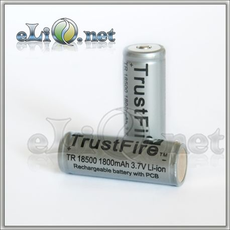 Trustfire Protected 18500 Li-ion batteries (1800mAh)
