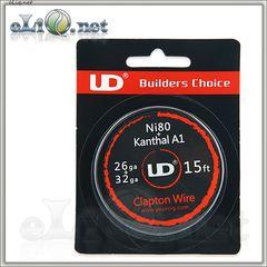 UD Clapton Ni80 + Kanthal A1 Wire (26ga+32ga) - клэптон нихром + кантал. 5м.