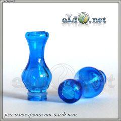 [510] Blue Glass Vase - стеклянный дрип-тип в форме вазы.