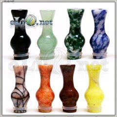 [510] Нефритовый (каменный) дрип-тип / мундштук в форме вазы.