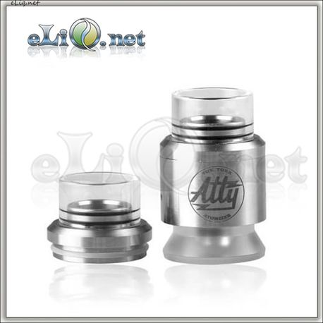28mm Chuff Enuff drip tip (glass+ss) type E / Верхняя часть с дрип-типом для атомайзера