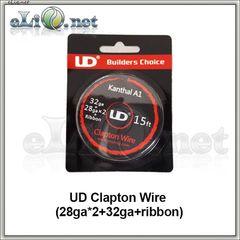 UD Fused Clapton Kanthal  Wire (28ga*2+32ga+Ribbon) - фюзд клэптон кантал.