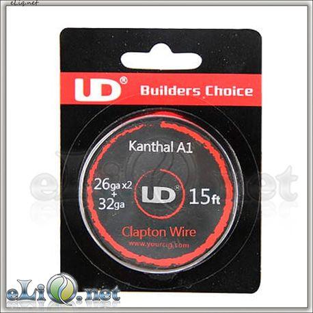 UD Clapton Kanthal  Wire (26ga*2+32ga) - клэптон кантал. 5м.