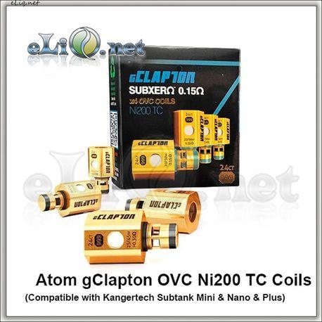 ATOM. Ni200 клэптон испаритель для KangerTech Subox / Subtank / Mini / Nano / Plus. gClapton OVC Ni200 Coils