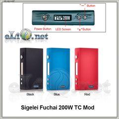 Sigelei Fuchai 200W TC Mod боксмод варивольт-вариватт с температурным контролем. Оригинал.