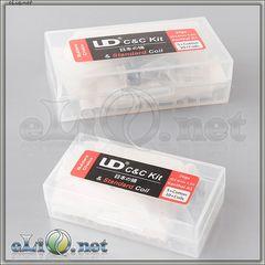 UD 26ga Coils + Cotton - коттон (вата) + намотки из кантала в кейсе для аккумуляторов.
