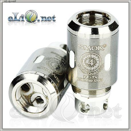 SMOK TFV4 TF-T4 Clapton Quadruple Coil - четырехспиральныи клэптон испаритель.