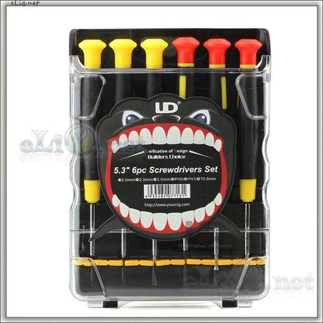 UD Youde 6pc Screwdrivers Set for E-cig - набор отверток.
