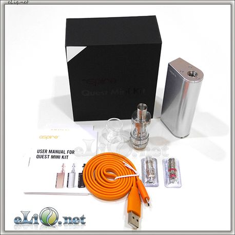 Aspire Quest Mini Kit  (Triton Mini Tank and Pegasus Mini Box MOD) - стартовый набор, вариватт, ТК