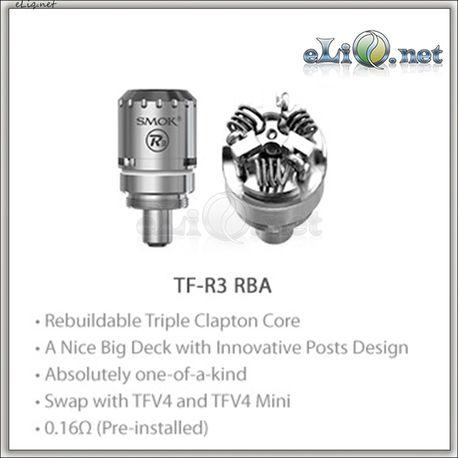 SMOK TF-R3 RBA Beast Core - обслуживаемая трехспиральная база + испаритель TF-T4.