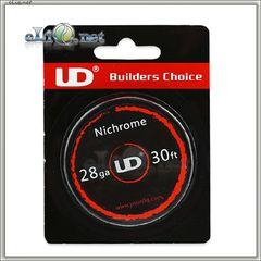 UD Nichrome (0.3mm, 28ga) - Нихром, катушка 10 м.