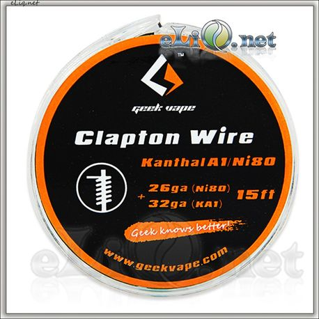 [GeekVape] Clapton (26GA Ni80 + 32GA) Нихром + кантал. 5м. Клэптон.