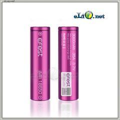 [35A] 3000mah Efest Purple IMR18650  - flat top - Высокотоковый аккумулятор, без защиты, с плоским верхом.
