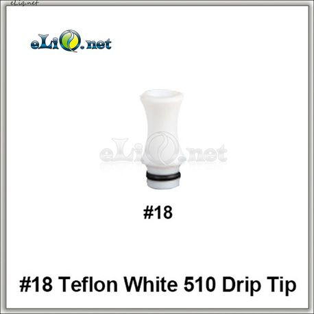 [510]  №18 Дрип-тип / мундштук из тефлона (Teflon / PTFE)