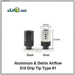 [510] Дрип-тип с обдувом из делрина и алюминия. Шестигранник.