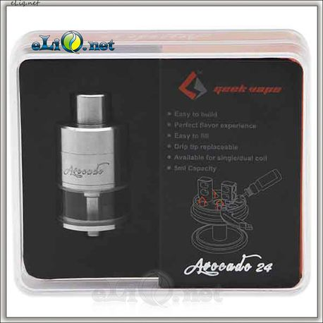 GeekVape Avocado 24 RDTA Tank - 5.0ml. Генезис с велосити стойками. Авокадо 24.
