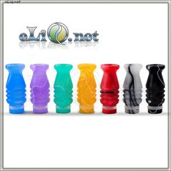 510 Twisted Drip Tip - дрип-тип, мундштук пластик, акрил