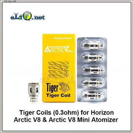 Испаритель Tiger Coil (0.3ohm) для Horizon Arctic V8 & Arctic V8 Mini Atomizer.