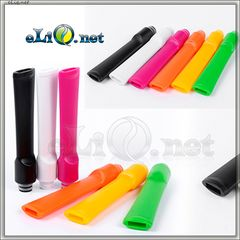 [510] Длинный плоский дрип-тип из цветного пластика  (Drip Tip)