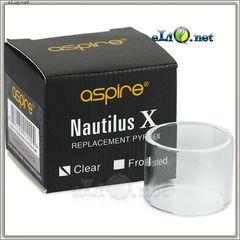 Прозрачная стеклянная колба на Aspire Nautilus X Cartomizer.  Наутилус Х.
