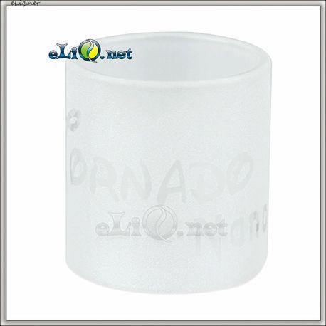 IJOY Tornado Nano Frosted Glass Tube With Logo - стеклянная колба для Торнадо нано.