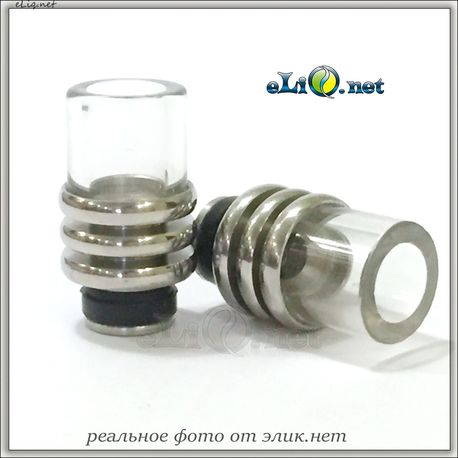 [510] Гибридный дрип-тип из нержавеющей стали и стекла..