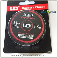 UD Clapton SS 316L Wire (26ga+30ga) - клэптон нержавеющая сталь.
